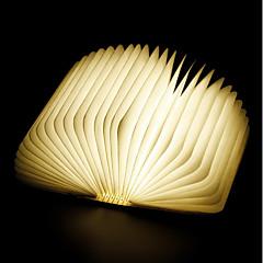 abordables Nouveautés Lampes LED-1pc Livre LED Night Light RVB Batterie Li intégrée Pliable Rechargeable Lumière décorative Avec port USB Transport Facile Couleurs