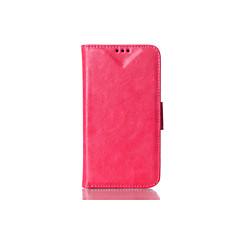 Недорогие Чехлы и кейсы для LG-Кейс для Назначение LG G3 G2 со стендом Флип Чехол Сплошной цвет Твердый Кожа PU для LG G4 LG G3 LG G2