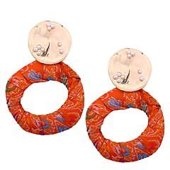 preiswerte Ohrringe-Damen Perle Tropfen-Ohrringe - Perle Böhmische, Europäisch, Boho Orange / Regenbogen / Blau Für Verabredung / Strasse