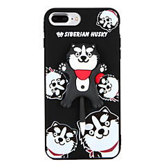 billige iPhone-etuier-Etui Til Apple iPhone 8 Plus iPhone 7 Plus Mønster Bagcover Hund Blødt TPU for iPhone 8 Plus iPhone 7 Plus