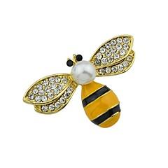 olcso Brossok-Női Méhecske Strassz / Gyöngyutánzat Melltűk - Egyszerű / Alap Arany Bross Kompatibilitás Napi / Új Év