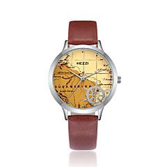 お買い得  レディース腕時計-KEZZI 女性用 ファッションウォッチ リストウォッチ 日本産 クォーツ カジュアルウォッチ クール PU バンド ハンズ カジュアル ブラック / 白 / ブルー - コーヒー グリーン ブルー