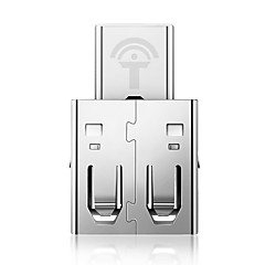 abordables Accesorios para MacBook-OTG Adaptador de cable USB OTG Adaptador Para Samsung Huawei Xiaomi MacBook Air MacBook Pro 0 cm pet Aleación de zinc