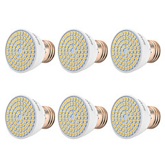preiswerte LED-Birnen-YWXLIGHT® 6pcs 7W 500-700lm E26 / E27 LED Spot Lampen 72 LED-Perlen SMD 2835 Warmes Weiß Kühles Weiß Natürliches Weiß 110-130V 220-240V