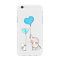 Недорогие Кейсы для iPhone 5-Кейс для Назначение Apple iPhone X iPhone 8 Plus С узором Кейс на заднюю панель С сердцем Мультипликация Животное Мягкий ТПУ для iPhone X