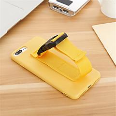 Недорогие Кейсы для iPhone-Кейс для Назначение Apple iPhone 7 Plus iPhone 7 Защита от удара Нарукавная повязка Кейс на заднюю панель Сплошной цвет Твердый ТПУ для