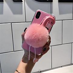 Недорогие Кейсы для iPhone-Кейс для Назначение Apple iPhone X / iPhone 7 Plus С узором Кейс на заднюю панель Фламинго Мягкий текстильный для iPhone X / iPhone 8 Pluss / iPhone 8