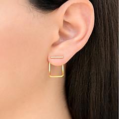 preiswerte Ohrringe-Damen Ohrstecker - Modisch Gold / Silber / Rotgold Für Alltag / Festtage
