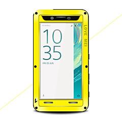 Недорогие Чехлы и кейсы для Sony-Кейс для Назначение Sony Xperia X Вода / Грязь / Надежная защита от повреждений Чехол Сплошной цвет Твердый Металл для Sony Xperia X