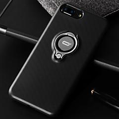 Недорогие Кейсы для iPhone-Кейс для Назначение Apple iPhone 7 Plus iPhone 7 Защита от удара Кольца-держатели Кейс на заднюю панель Сплошной цвет Мягкий Кожа PU для