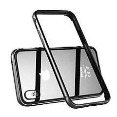 Недорогие Кейсы для iPhone-Кейс для Назначение Apple iPhone X Защита от удара Бампер Сплошной цвет Твердый Металл для iPhone X