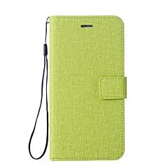 Недорогие Чехлы и кейсы для Xiaomi-Кейс для Назначение Xiaomi Redmi Примечание 5A Redmi Note 4 Бумажник для карт Кошелек со стендом Флип Чехол Сплошной цвет Твердый Кожа PU