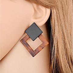 olcso Női ékszerek-Női Függők - Szexi / Divat Sötétbarna Geometric Shape Fülbevaló Kompatibilitás Ajándék / Estély