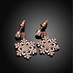 preiswerte Ohrringe-Damen Kubikzirkonia Tropfen-Ohrringe - Schneeflocke Modisch Gold / Silber / Rotgold Für Hochzeit Alltag