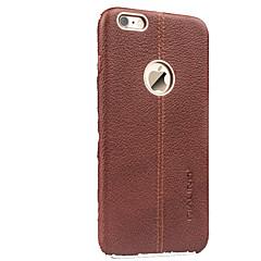 Недорогие Кейсы для iPhone-Кейс для Назначение Apple iPhone 6 Защита от удара Кейс на заднюю панель Сплошной цвет Твердый Настоящая кожа для iPhone 6s iPhone 6