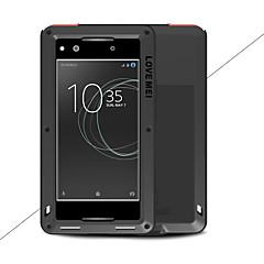 Недорогие Чехлы и кейсы для Sony-Кейс для Назначение Sony Xperia XA1 Ultra Xperia XA1 Вода / Грязь / Надежная защита от повреждений Чехол Сплошной цвет Твердый Металл для