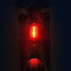 cheap -Bike Lights Rear Bike Light LED LED Cycling Professional Dry Cell 15 Lumens AAA Red Cycling/Bike
