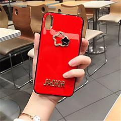 Недорогие Кейсы для iPhone X-Кейс для Назначение Apple iPhone X iPhone 7 Plus Стразы С узором Кейс на заднюю панель Однотонный Мягкий Силикон для iPhone X iPhone 8