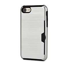 Недорогие Кейсы для iPhone-Кейс для Назначение Apple iPhone 6 iPhone 7 Бумажник для карт Кейс на заднюю панель Сплошной цвет Твердый пластик для iPhone 7 iPhone 6s