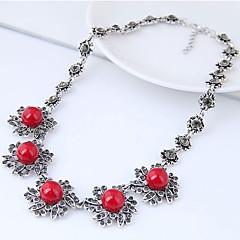 preiswerte Halsketten-Damen Anhängerketten Statement Ketten - Harz Blume Retro, Europäisch, Modisch Rot Modische Halsketten Für Party