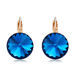 preiswerte Ohrringe-Damen Kristall Tropfen-Ohrringe - Krystall, vergoldet Klassisch, Elegant Dunkelblau Für Party / Abend / Alltag