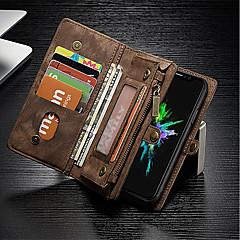Недорогие Кейсы для iPhone-Кейс для Назначение Apple iPhone X iPhone 8 Бумажник для карт Кошелек Защита от удара со стендом Флип Чехол Сплошной цвет Твердый