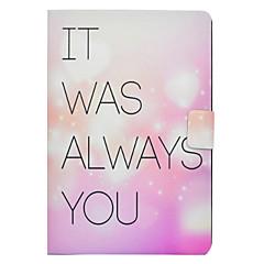 Недорогие Чехлы и кейсы для Galaxy Tab 3 Lite-Кейс для Назначение SSamsung Galaxy Tab E 9.6 Tab A 10.1 (2016) Бумажник для карт со стендом Флип С узором Чехол Слова / выражения С