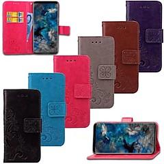 Недорогие Кейсы для iPhone-Кейс для Назначение SSamsung Galaxy S9 Plus / S9 Кошелек / Бумажник для карт / Флип Чехол Цветы Твердый Настоящая кожа для S9 / S9 Plus / S8 Plus