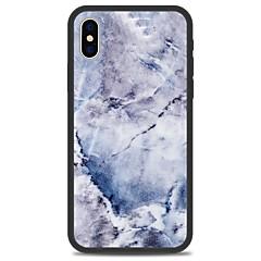 Недорогие Кейсы для iPhone 5-Кейс для Назначение Apple iPhone X iPhone 8 Plus С узором Кейс на заднюю панель Мрамор Твердый Акрил для iPhone X iPhone 8 Pluss iPhone 8