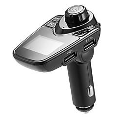 Недорогие Bluetooth гарнитуры для авто-bluetooth car fm передатчик аудио адаптер приемник беспроводной громкой связи вольтметр автомобильный комплект tf карта aux usb 1.44 дисплей автомобильное зарядное устройство