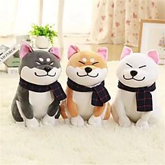 お買い得  ぬいぐるみ-1PC Wear scarf Shiba Inu 犬 ぬいぐるみ/プラッシュ 動物 かわいい 快適 絶妙 ギフト