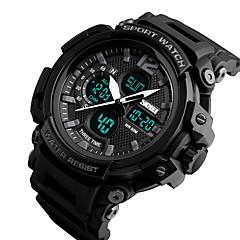 preiswerte Armbanduhren für Paare-SKMEI Herrn Paar digital Militäruhr Japanisch Kalender Wasserdicht Armbanduhren für den Alltag Nachts leuchtend Stopuhr PU Band Luxus