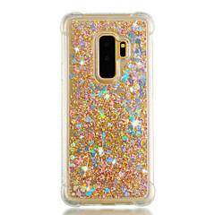 olcso Galaxy S6 tokok-Case Kompatibilitás Samsung Galaxy S9 S9 Plus Ütésálló Folyékony Csillogó Fekete tok Szív Csillogó Puha TPU mert S9 Plus S9 S8 Plus S8 S7