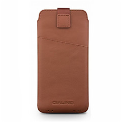 Недорогие Универсальные чехлы и сумочки-Кейс для Назначение Huawei Honor 8 Honor 8 Pro Бумажник для карт Защита от удара Мешочек Сплошной цвет Мягкий Настоящая кожа для Honor 8