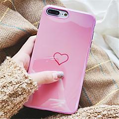 Недорогие Кейсы для iPhone 6-Кейс для Назначение Apple iPhone X iPhone 7 Plus С узором Кейс на заднюю панель С сердцем Мягкий ТПУ для iPhone X iPhone 8 Pluss iPhone 8
