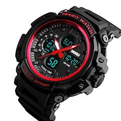 お買い得  メンズ腕時計-SKMEI 男性用 カップル用 デジタル 軍用腕時計 日本産 カレンダー 耐水 カジュアルウォッチ 夜光計 ストップウォッチ PU バンド ぜいたく カジュアル クール ブラック レッド カーキ