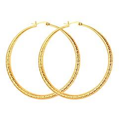 olcso Karika fülbevalók-Női Arannyal bevont Francia kapcsos fülbevalók - Egyszerű Arany Ezüst Circle Shape Fülbevaló Kompatibilitás Estély Randi