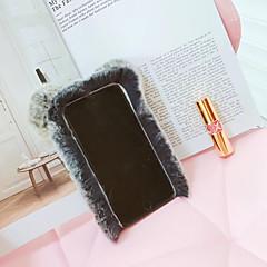 Недорогие Кейсы для iPhone-Кейс для Назначение Apple iPhone 6 iPhone 7 Защита от удара Кейс на заднюю панель Сплошной цвет Твердый текстильный для iPhone 8
