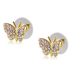 cheap Earrings-Women's Butterfly Cubic Zirconia Zircon / Gold Plated Stud Earrings - Classic / Elegant / Fashion Gold Earrings For Party / Evening /