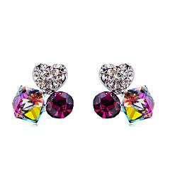 preiswerte Ohrringe-Damen Kristall / Kubikzirkonia Ohrstecker - Krystall, Zirkon, Diamantimitate Herz Klassisch, Elegant Regenbogen Für Alltag / Zeremonie