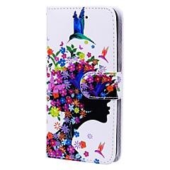 Недорогие Кейсы для iPhone 7 Plus-Кейс для Назначение Apple iPhone X iPhone 8 Бумажник для карт Флип С узором Чехол Соблазнительная девушка Твердый Кожа PU для iPhone X