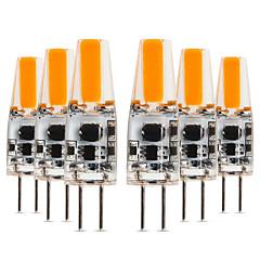 billige LED-lyspærer-YWXLIGHT® 6pcs 4W 300-400lm G4 LED-lamper med G-sokkel T 1 LED perler COB Varm hvit Kjølig hvit Naturlig hvit 12-24V