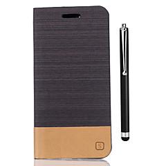 Χαμηλού Κόστους Θήκες / Καλύμματα για Huawei-tok Για Huawei Honor 8 Θήκη καρτών Πορτοφόλι με βάση στήριξης Ανοιγόμενη Πλήρης Θήκη Συμπαγές Χρώμα Σκληρή PU δέρμα για Honor 8 Huawei