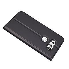Недорогие Чехлы и кейсы для LG-Кейс для Назначение LG V30 Бумажник для карт со стендом Чехол Сплошной цвет Твердый Кожа PU для LG V30