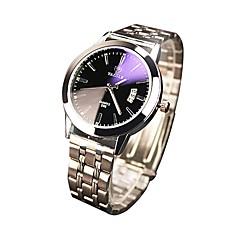 preiswerte Damenuhren-Herrn Damen Armbanduhren für den Alltag Japanisch Quartz Silber 30 m Kalender Analog Modisch - Weiß Schwarz