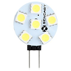 voordelige LED-lampen-SENCART 1pc 1.5W 60-80lm G4 2-pins LED-lampen T 6 LED-kralen SMD 5050 Decoratief Warm wit Wit 12V