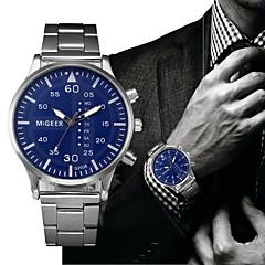 cheap -Men's Dress Watch Fashion Watch Chinese Quartz Chronograph Stainless Steel Band Elegant Fashion Black Silver
