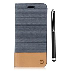 Недорогие Чехлы и кейсы для LG-Кейс для Назначение LG G6 Кошелек / Бумажник для карт / со стендом Чехол Однотонный Твердый Кожа PU для LG G6 / LG G5 / LG G4