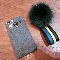 Недорогие Кейсы для iPhone X-Кейс для Назначение Apple iPhone X iPhone 7 Plus С узором Кейс на заднюю панель Однотонный Мягкий текстильный для iPhone X iPhone 8 Pluss