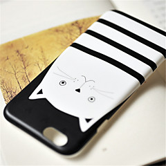 Недорогие Кейсы для iPhone-Кейс для Назначение Apple iPhone 6 Plus iPhone 7 Plus С узором Кейс на заднюю панель Кот Мягкий ТПУ для iPhone 7 Plus iPhone 7 iPhone 6s
